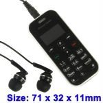 Mini Bluetooth Telephone / Bluetooth Stereo Headset with Keyboard + LED Display for iPhone 4 / 4S / 3GS / 3G (Black)