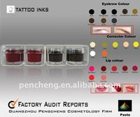 Eyebrow Tattoo Ink&Permanent makeup Pigment Supply(paste)