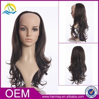 Factory wholesale provide women long synthetic curly u part wig blonde african american wigs