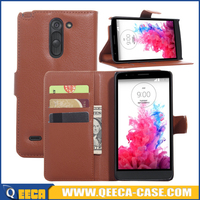 Factory manufacturer leather flip case for lg g3 stylus cover
