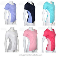 2015 wholesale Lady dry fit 100% Polyester t shirt