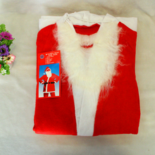 custmoized red santa christmas clothes for cosplay