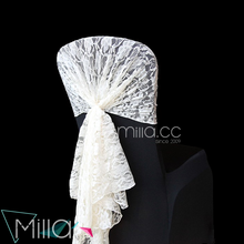 White Lace Chair Sash For Wedding Chair Covers