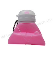 Hot Sale BPA Free Silicone Collapsible Water Bottle 500ml