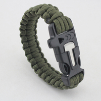 china hand made wove survival bracelet camping bracelet