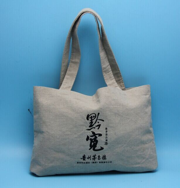 linen Material burlap bags with handle