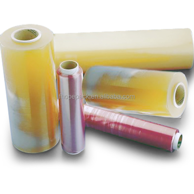Shanghai manufacture Nice looking food grade pvc cling stretch film