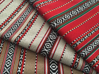 Upholstery jacquard national stripe home textile fabric