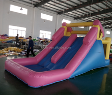 China factory price cheap inflatable water slide, bouncer with slide price