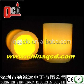 Votive flameless led candle operated by 1* CR2032 Cell battery