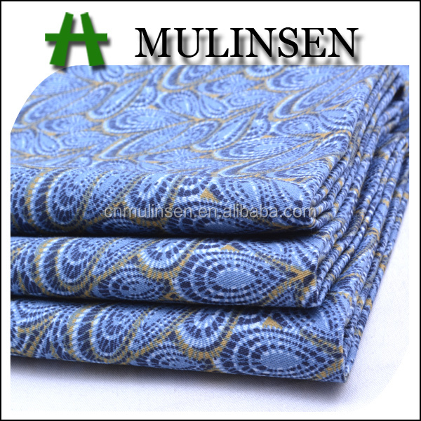 Mulinsen Textile Reactive Printed Satin Weave Combed 60s Cotton Fabric Bandung