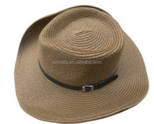 Zhejiang manufactory Hot sale wholesale raffia straw cowboy hats