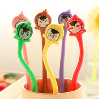 Korean student hot stationery wholesale free sample silicone rubber pen cute stylus ball point pen