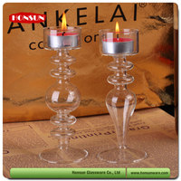 High borosilicate 3.3 hand blown different types of candle holders