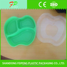 Orange/blue/black color apple shape plastic food packaging bento box/container for candy/fruit
