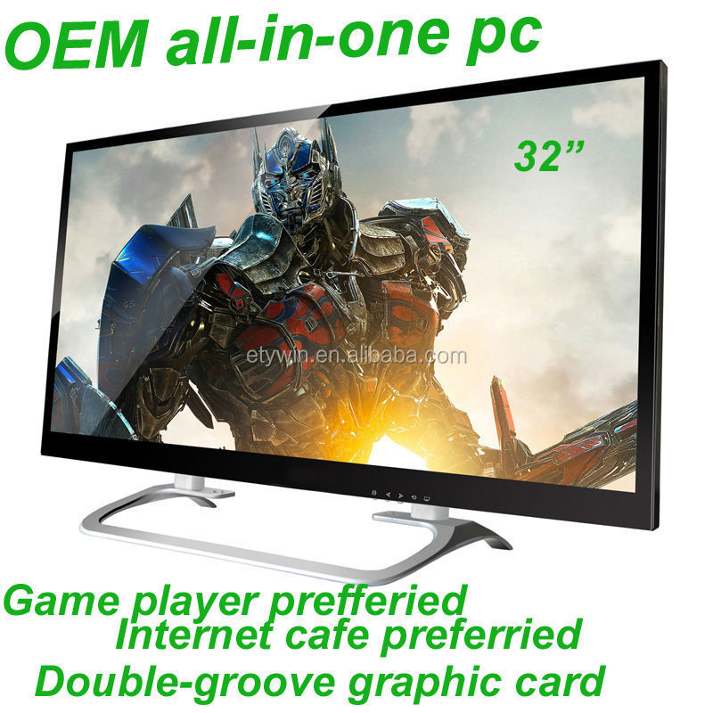 32 inch all in one pc tv gaming computer w/o computer part all in one pc integrated pc with LED monitor