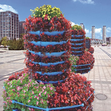 Artificial garden vertical flower tower/Outdoor vertical flowerpot set