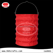 Hanging cylinder shape paper candle lanterns with handle