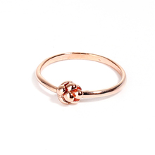Copper Unadjustable Rings Rose Gold Pine Cone High School Ring