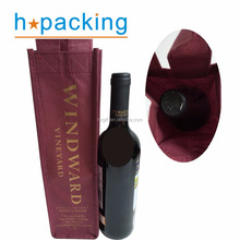 Non Woven One Bottle Wine Packaging Bags With Strong Handle