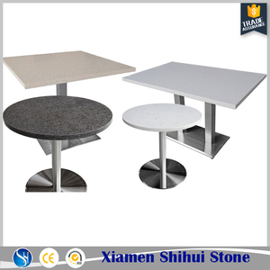 High Quality Quartz Square Coffee Table Tops for Cafe or Restaurant
