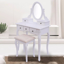 Indian Modern Chic White Dressing Table