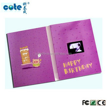 Customer design lcd digital video player wedding invitation greeting card
