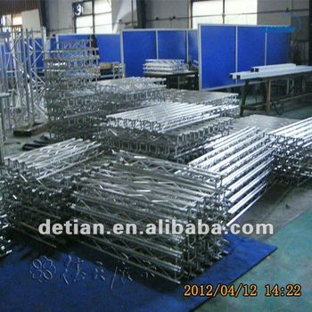portable and lighting aluminum srew truss mini truss manufacturer