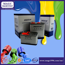 Liquid car paint color hardener for epoxy resin