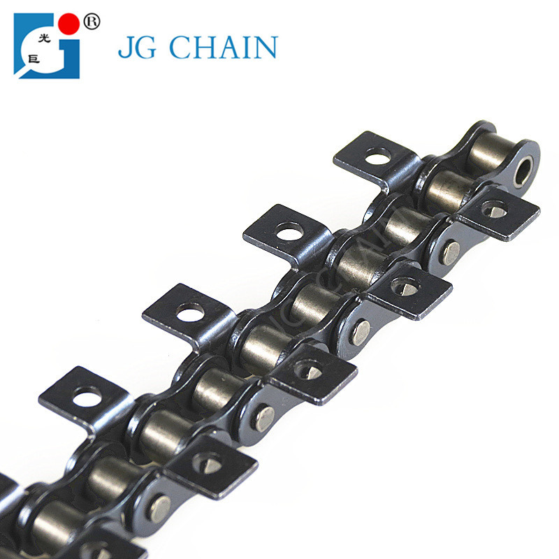 Alloy conveyor roller chains with k1 attachment