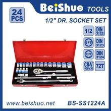 Automotive Repair Kit, Chrome Vanadium Material Handtool set, Professional 1/2'' Drive Socket Set