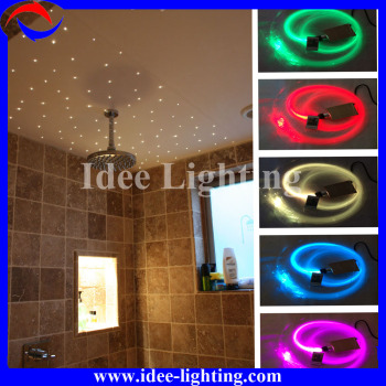 DIY color changing LED fiber optic star shower light with remote control
