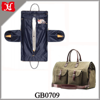 Wholesale Fashion Best Selling New Style Durable Multifunction Recycled Men Canvas Garment Suit Bag