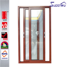 Hot Sale Double Glazing AS2047, AS/NZS2208 Certificate wood frame sliding glass door