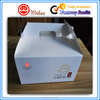 Custom Food packaging white cardboard paper bakery cake box with good quality handle