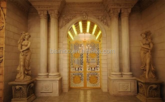 Antique Castle Style Villa 3D Rendering Design for Entranceway with Column and Statue
