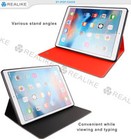 pu leather smooth case for ipad air pro,stand case for ipad 7 with two sides using and auto sleep,functional and hot selling