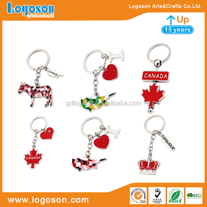 Fashionable Gifts Key Rings Bulk Decorative Alphabet Letters With Beautiful Crystal Heart Shaped Key Chain Custom Logo