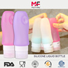 Refillable Toiletry Bottles botellas flexible para ketchup Sucker Tube silicone gel bottle holder silicone Flacon Soft Touch