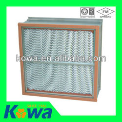 Air Cleaning Equipment Deep-pleated High temperature Separator resistant HEPA filter