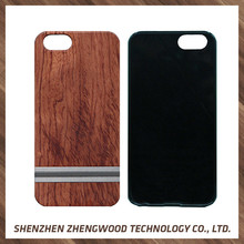 2017 new design phone case 2 in 1 real wood + pc cell phone case for iPhone 7s/7 plus