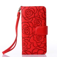 Custom Design Leather Card Holder Cell SmartPhone Mobile Phone Cases For Girls