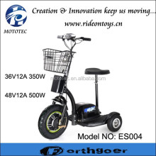 350w 500w tricycle electric scooter 3 wheel for old people heavy loading