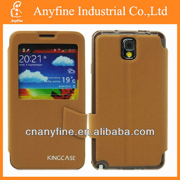 New arrival KING leather cases for Samsung note 3/N9000