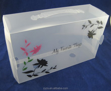 Custom print plastic hanging file folder container case box with handle and lid