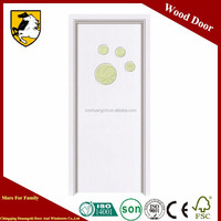 White Painting Coated Solid Engineered Oak Wooden Doors For House