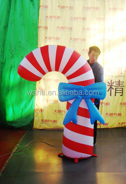 inflatable Christmas decoration lighting crutch