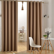 Block Sunlight and Ultraviolet Grommet Thermal Insulated Ready Made Solid Blackout Curtain