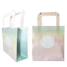Watercolor Rainbow Gradient Kraft Paper Gift Bags For Wedding Favor