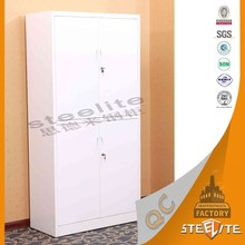 School furniture 2 tier 4 Door Compartment Steel Clothes Locker / Metal Closet Cabinet